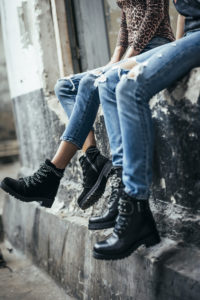 Biker boots met veters